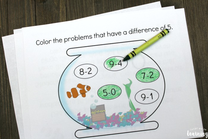 Printable Subtraction Practice for Kids