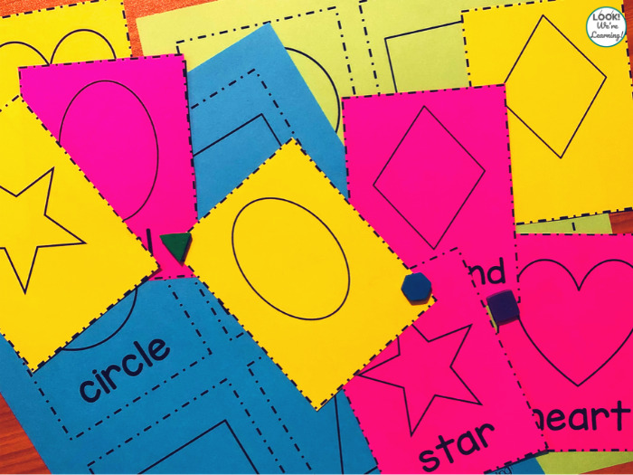 Shape Identification Flashcards for Preschoolers
