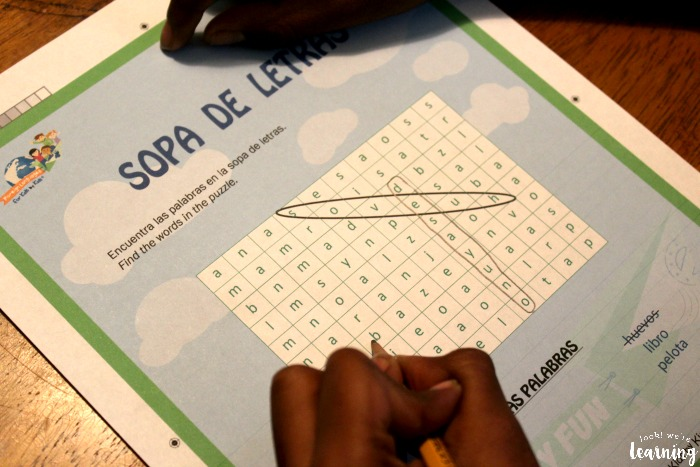 Spanish Vocabulary Word Search