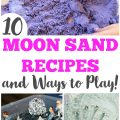 These fun moon sand recipe ideas are so easy to make and share for some quick sensory play!