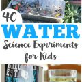 These simple water science experiments for kids are easy to set up and fun for learning about science!