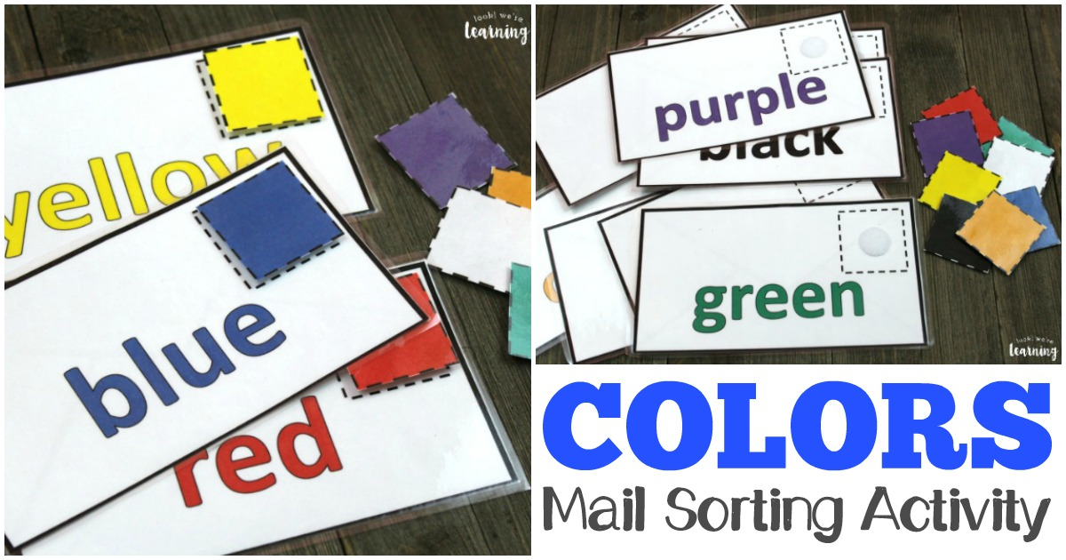 This fun mail-themed preschool color sorting activity is perfect for fine motor skills and color recognition!