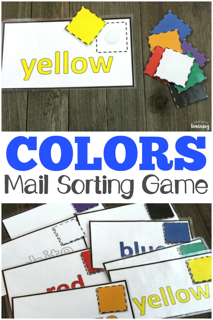 Toddlers and preschoolers will love this mail-themed color sorting activity! Perfect for a busy bag!