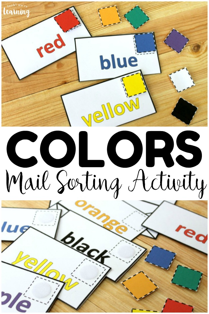 Use this fun hands on color mail sorting activity to help little ones practice color recognition! Prep it once and use at centers or in busy bags!