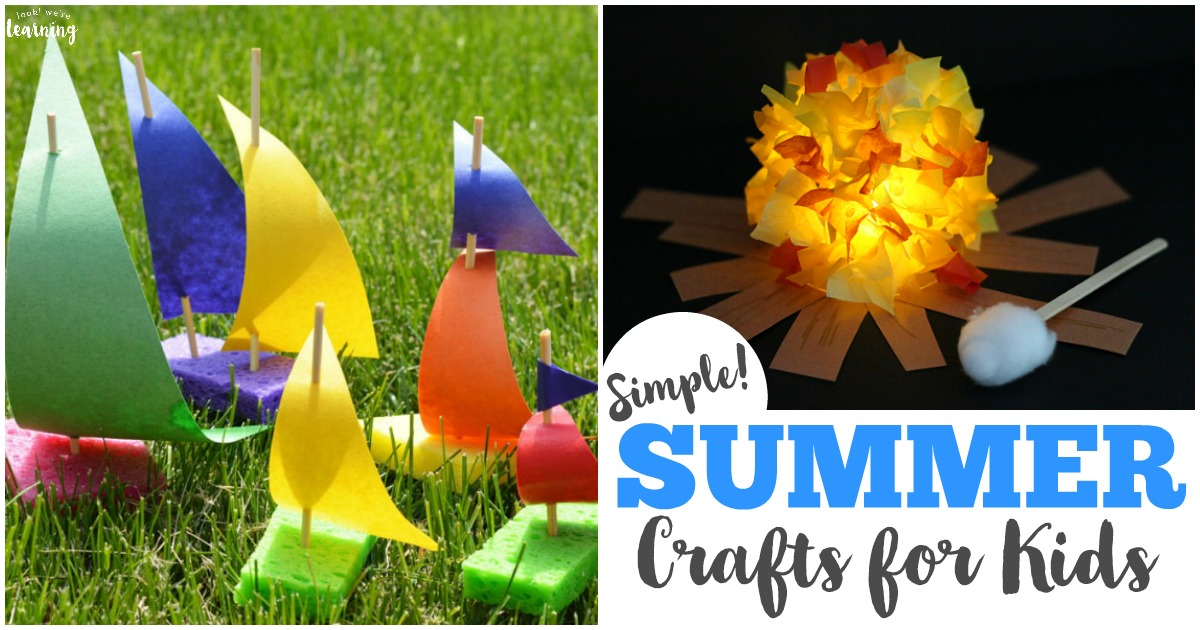 40 Simple Summer Crafts for Kids to Make