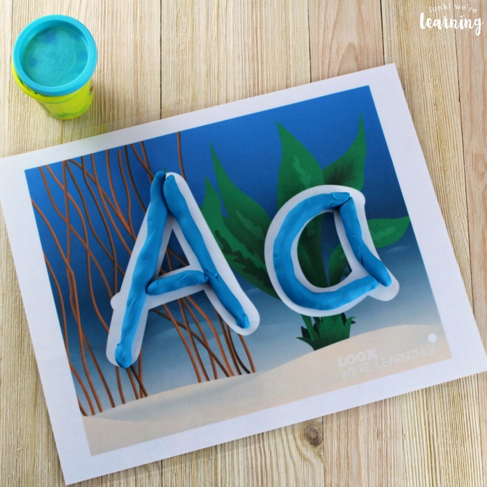 Alphabet Ocean Playdough Mats