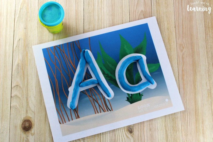 Printable Alphabet Ocean Playdough Mats