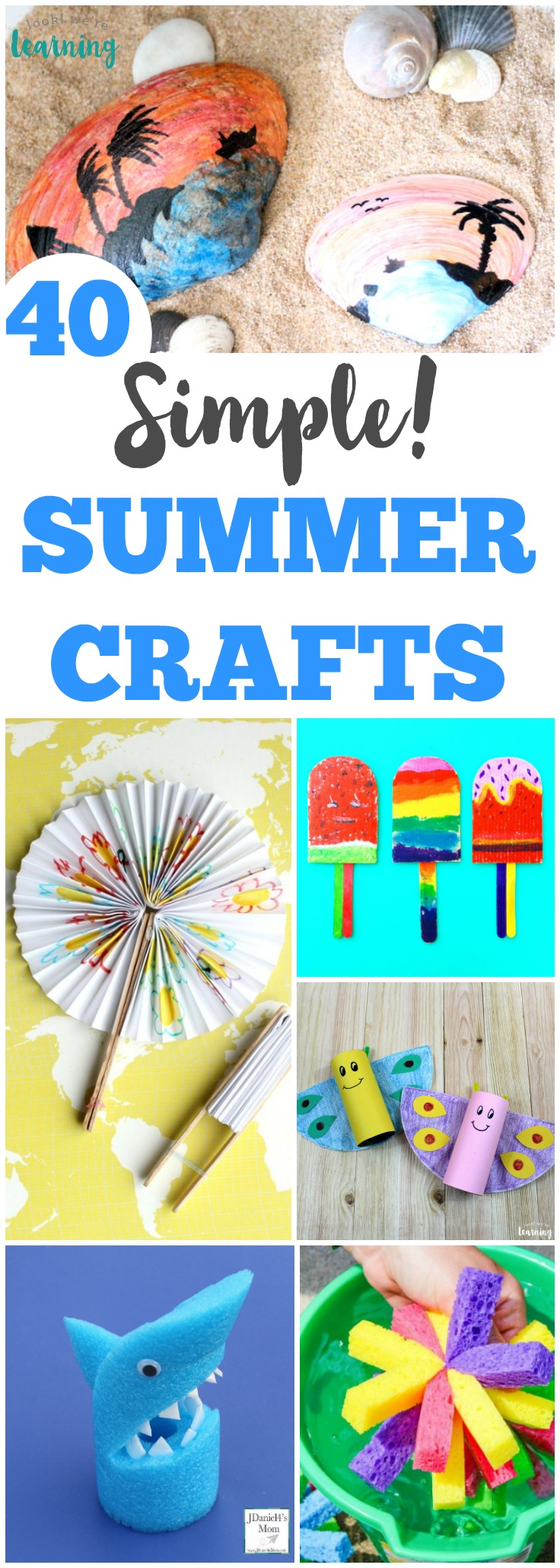 Share some easy crafting fun with the kids this summer with this list of simple summer crafts!