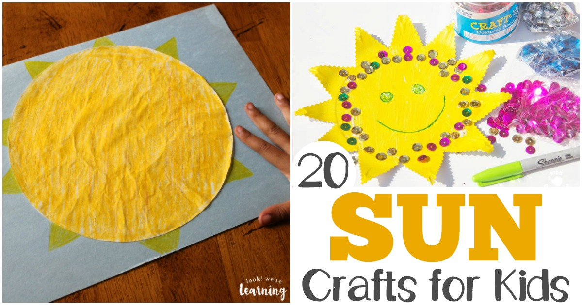 Share these easy sun crafts with the kids this summer!