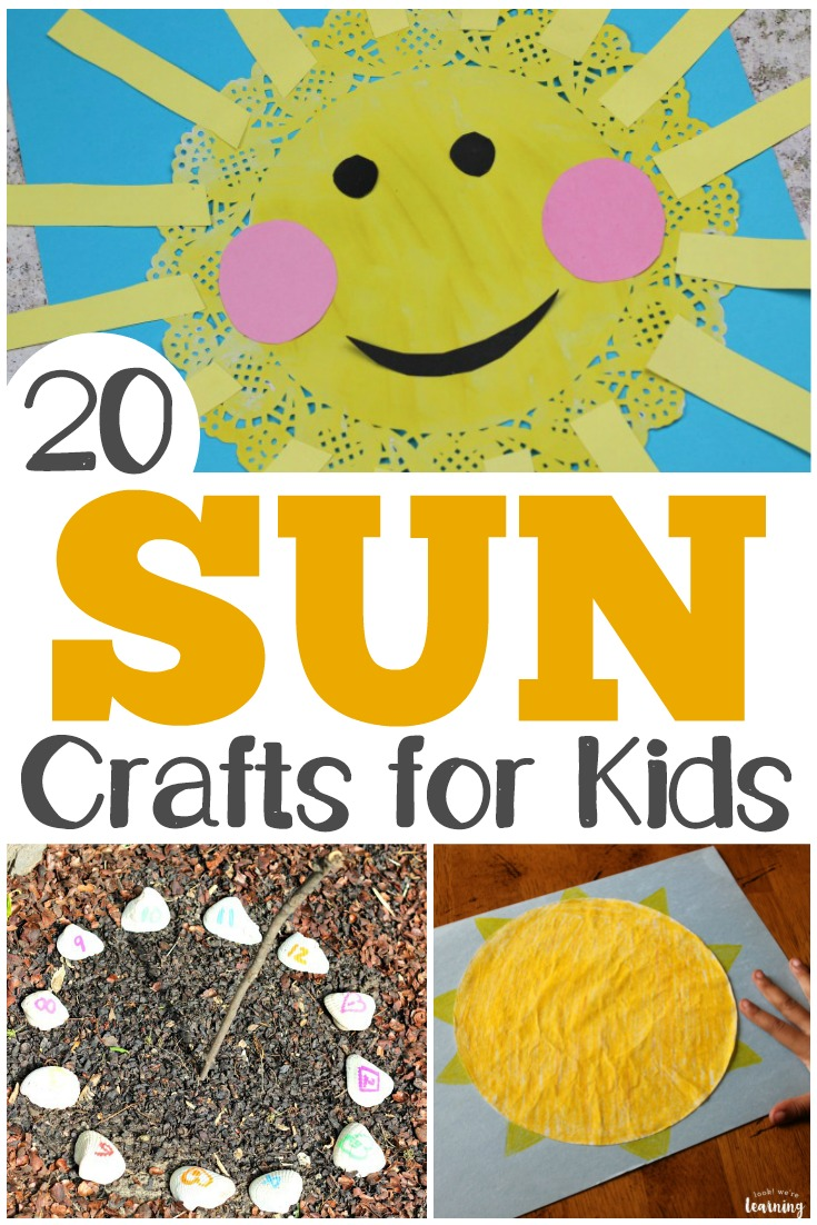 These easy sun crafts are so fun for summer arts and crafts with the kids!