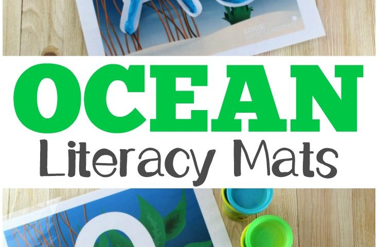 Ocean Commotion: Number and Literacy Playdough Mats