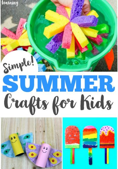 These simple summer crafts for kids are such a great way to spend time together!