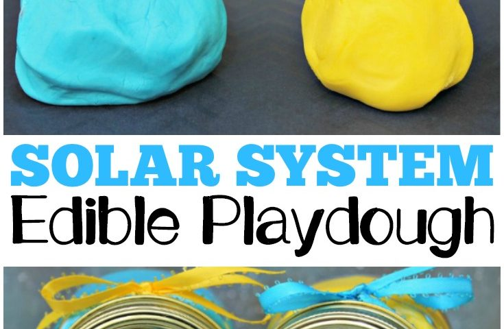 DIY Solar System Edible Playdough