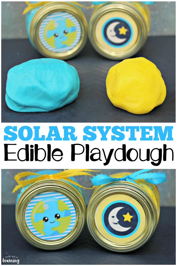 This fun solar system-themed edible playdough is a perfect sensory activity for summer!