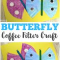 This super easy coffee filter butterfly craft is an adorable project for little ones!