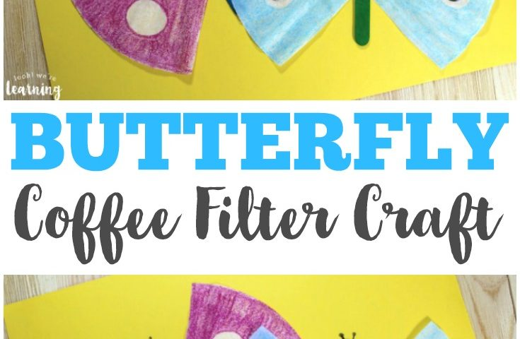 Coffee Filter Crafts for Kids: Coffee Filter Butterfly Craft