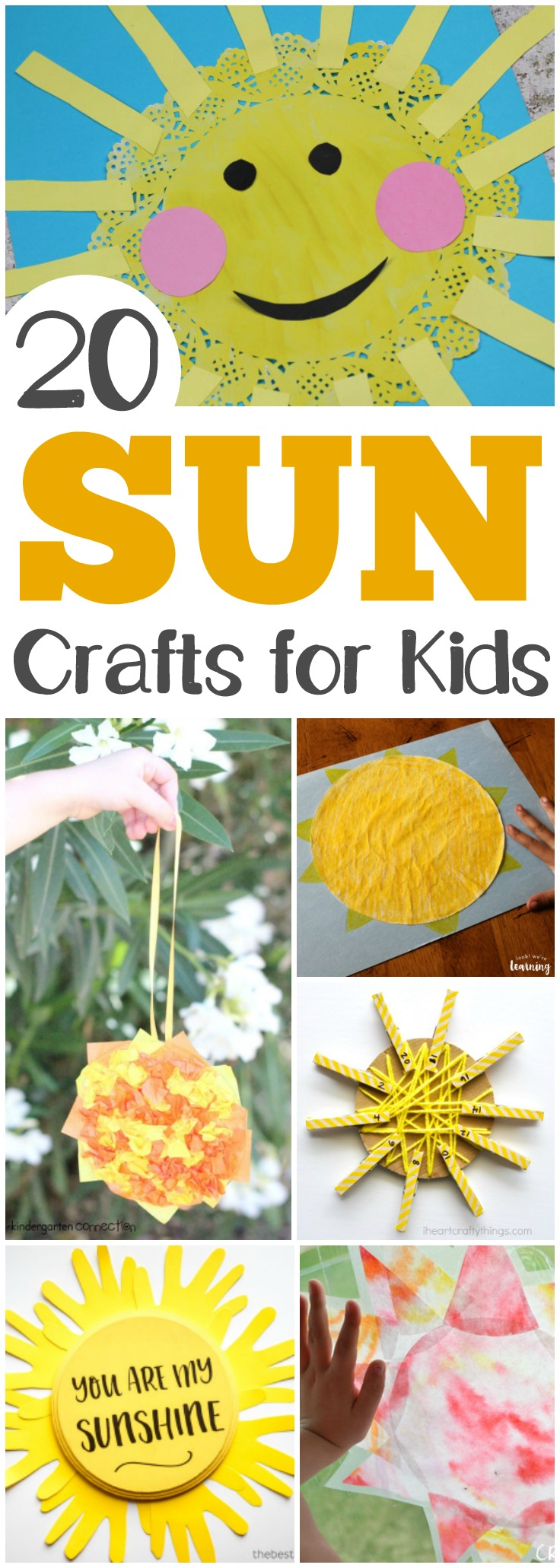 Welcome summer with this list of easy sun crafts kids can make!
