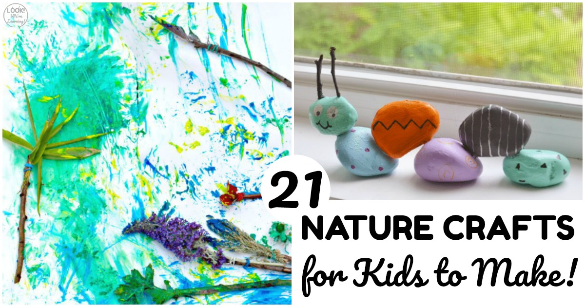 21 Easy Nature Crafts for Kids to Make