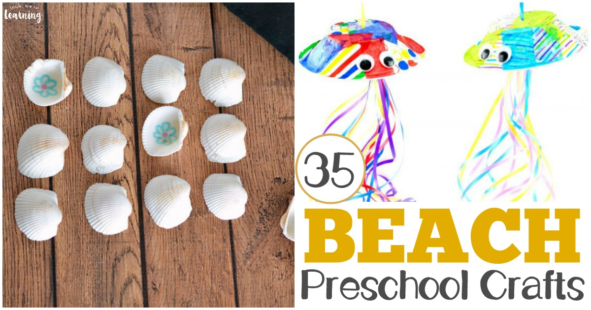 35 Easy PreK Beach Crafts for Kids to Make