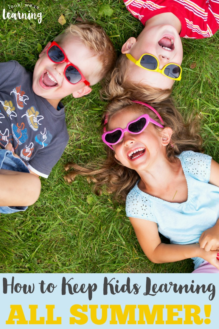 Avoid the summer slide by keeping the kids learning all summer. Here are 10 ways to learn over summer break!