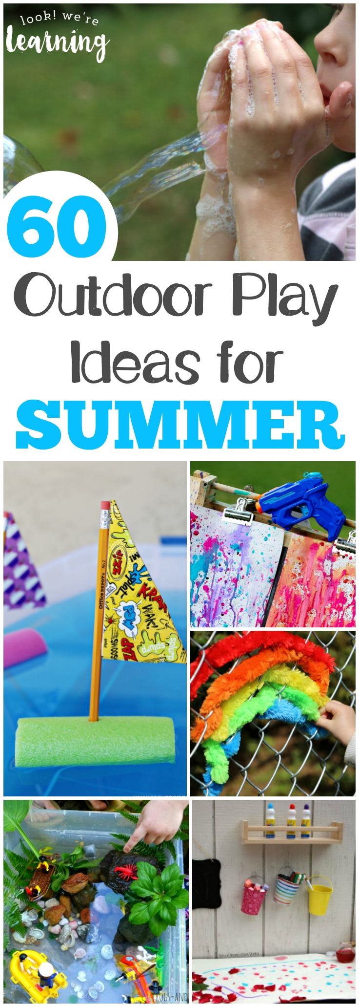 Head outside with the kids with this list of awesome fun in the sun ideas for summer!