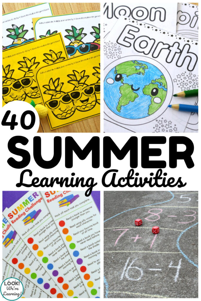 Keep learning all summer with this list of 40 at home summer learning activities for kids!
