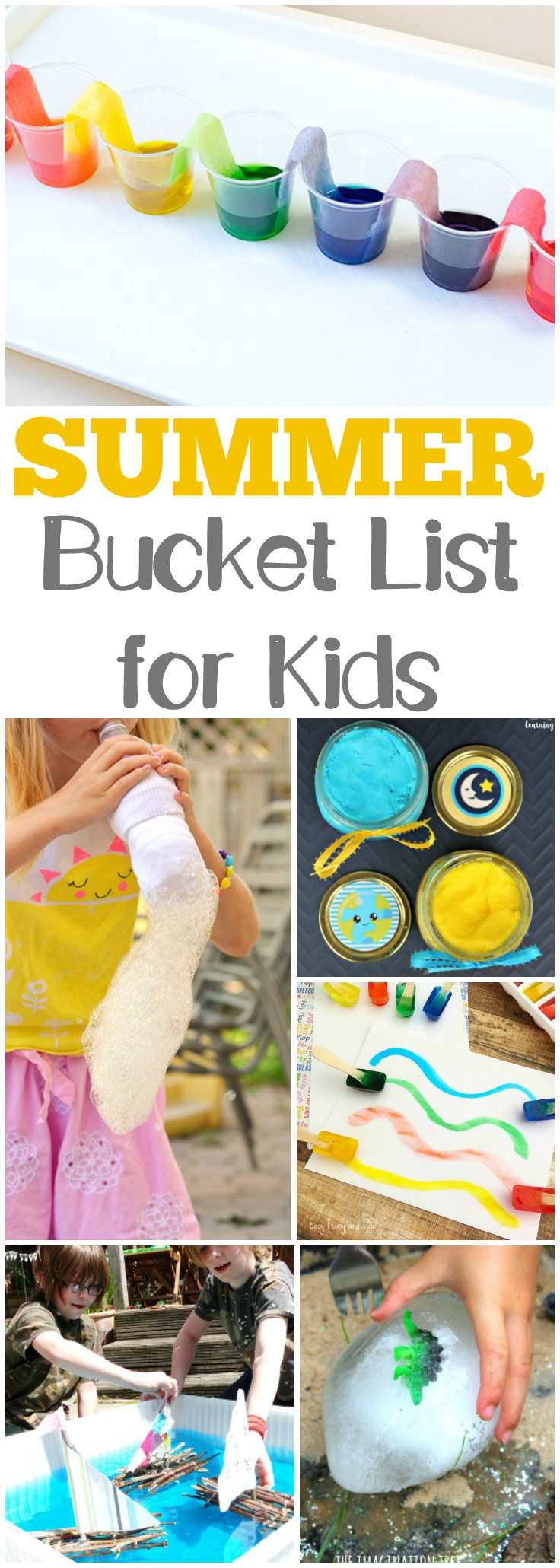 Keep the little ones entertained this summer with this simple summer bucket list for kids! Plenty of hands-on activities to try during summer break!