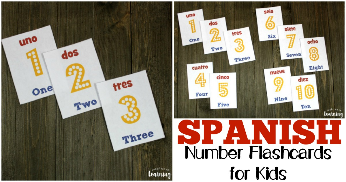 Learn how to read and say numbers in Spanish with these Spanish number flashcards!