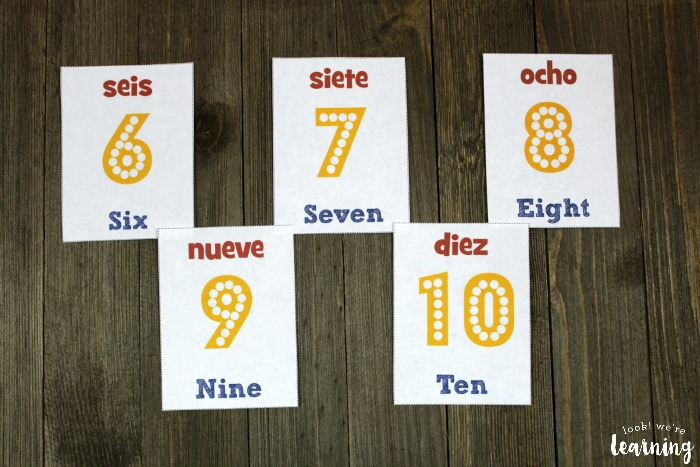Printable Spanish Number Flashcards