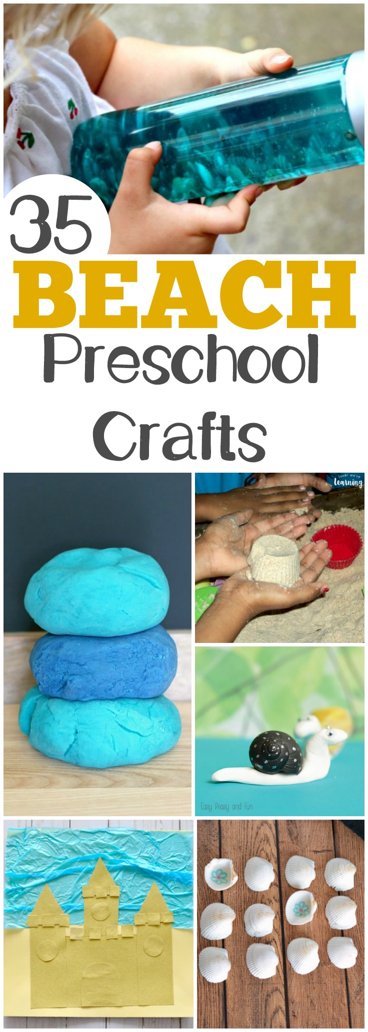 Share some of these easy PreK beach crafts with little ones this summer!