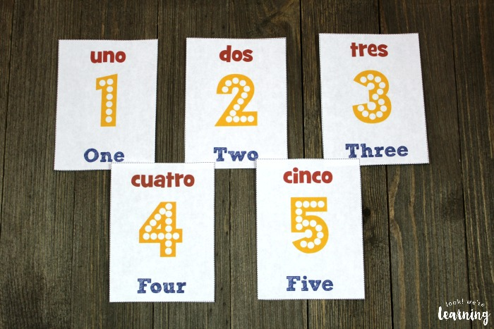 Spanish Number Flashcards for Kids