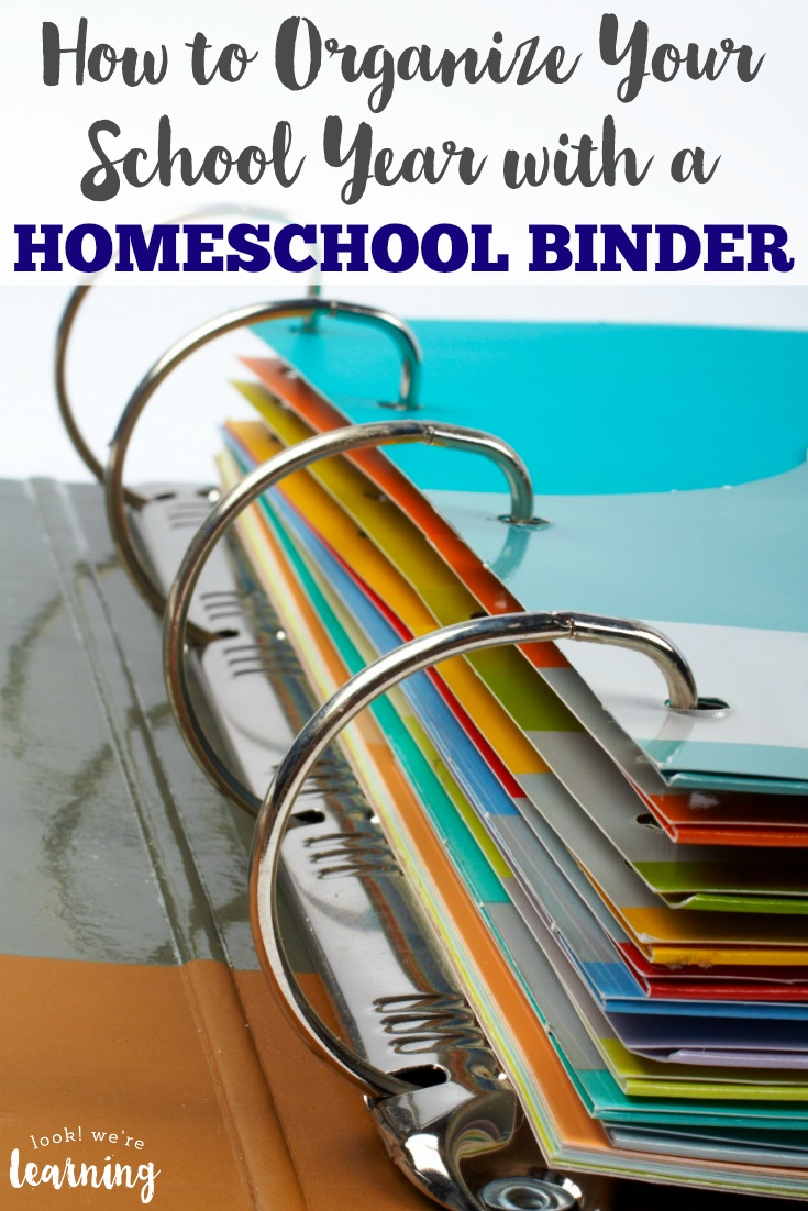 Struggling to keep your homeschool year structured? See how to organize your school year with a homeschool binder!