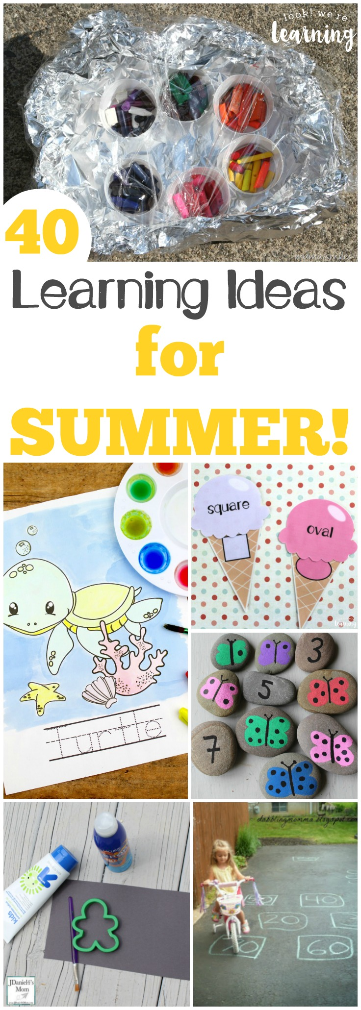 These 40 learning activities for summer are a great way to keep the learning going all during summer break!