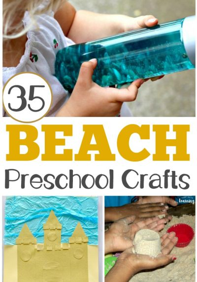These easy PreK beach crafts are perfect for summer art fun!