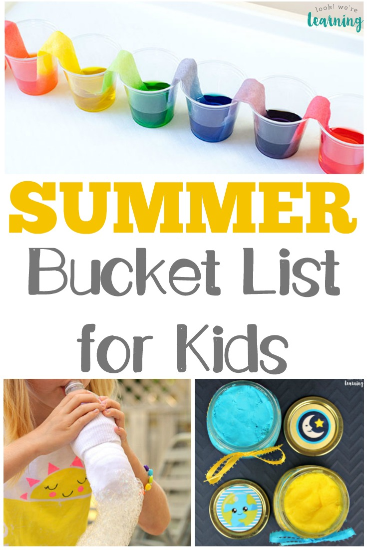 This fun summer bucket list for kids is full of hands-on activities your children will love!