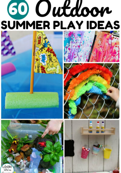 This list of 60 outdoor summer play ideas is perfect for keeping kids happy all summer long!