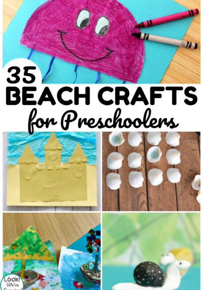 Try some of these easy and fun prek beach crafts with early learners this summer!