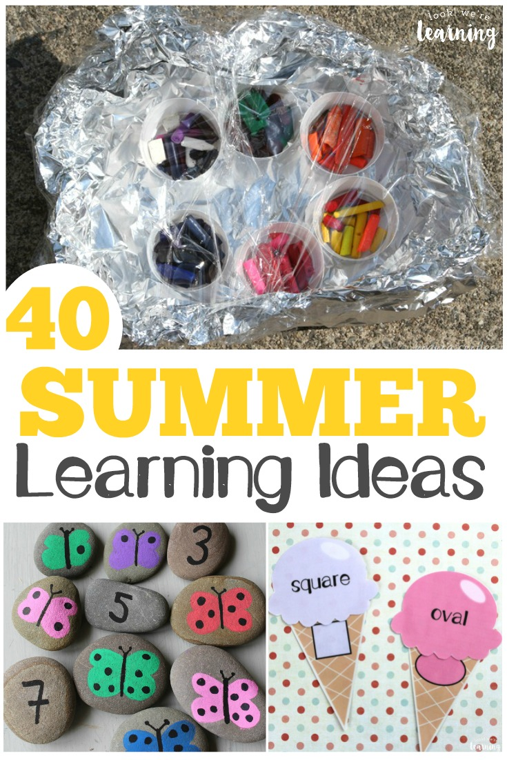 Try some of these learning activities for summer to keep kids learning all year long!