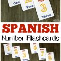 Work on recognizing numbers in both English and Spanish with these printable Spanish number flashcards!