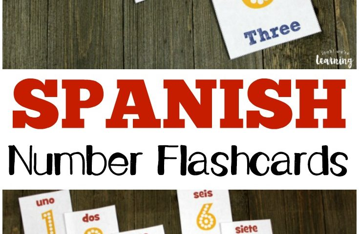 Free Printable Flashcards: Spanish Number Flashcards 1-10
