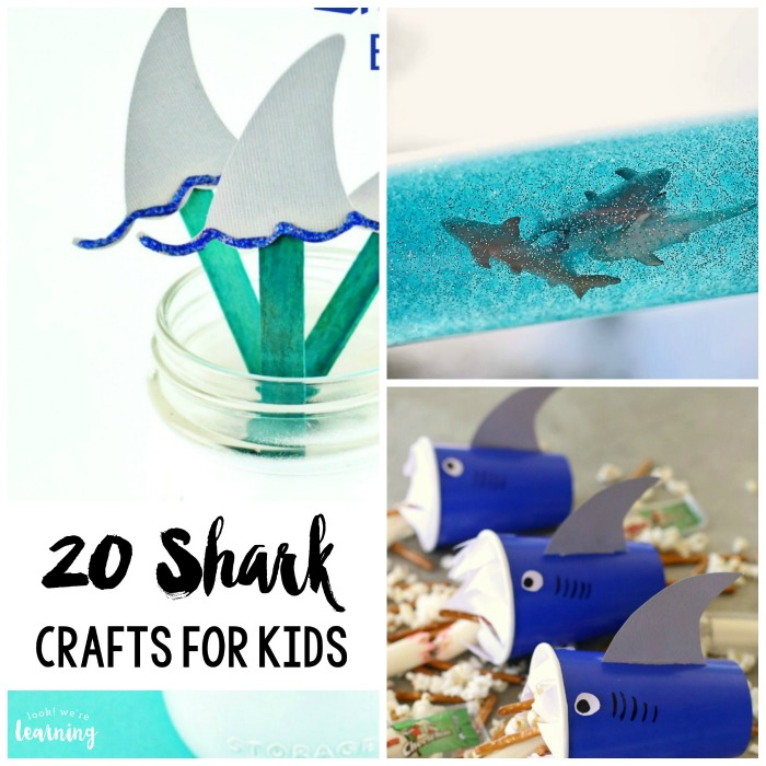 20 Easy And Fun Shark Crafts For Kids Look We Re Learning