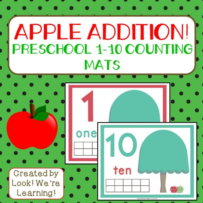Apple Tree Counting 1-10 Mats