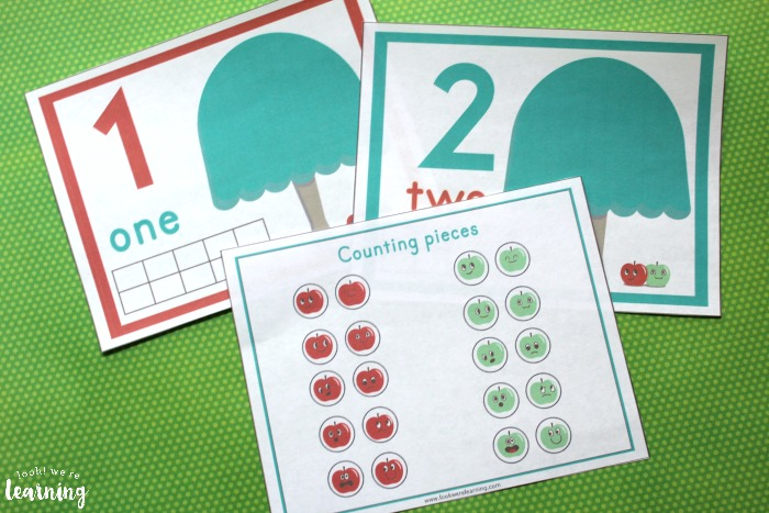 Apple Tree Counting Mats for Numbers 1-10