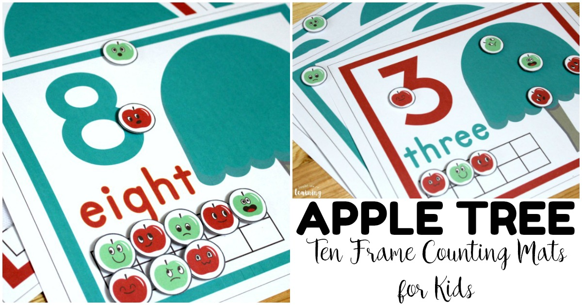 Fun Apple Tree Ten Frame Counting Mats
