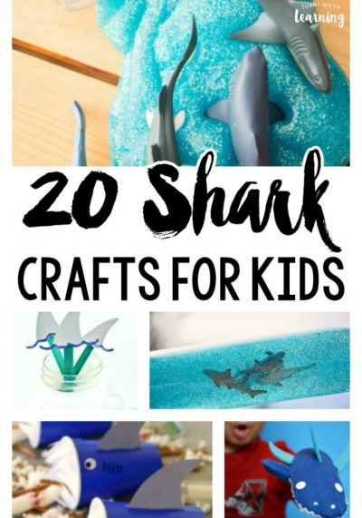 Get ready for Shark Week with these fun and easy shark crafts for kids!