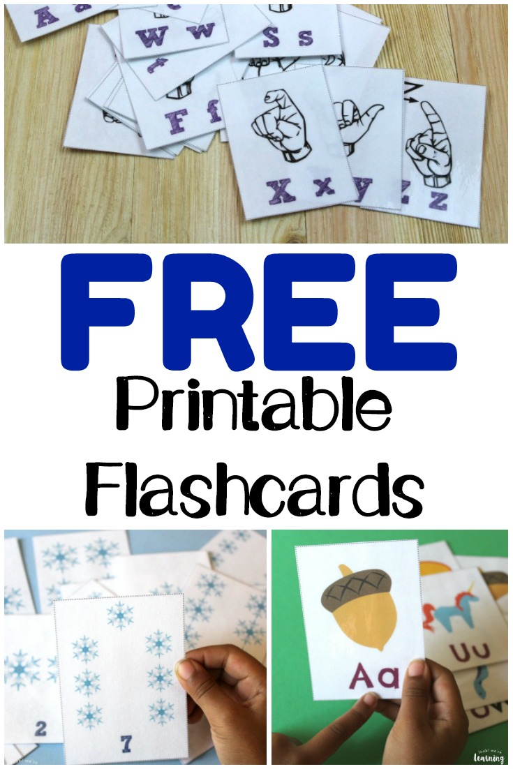 Make learning easy for the kids with these free printable flashcards!