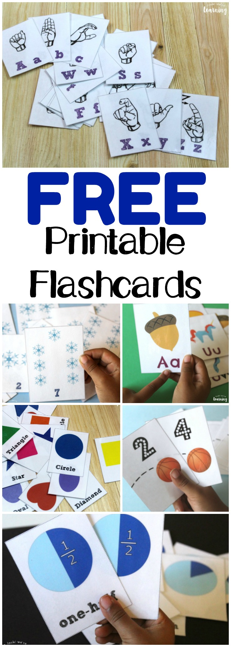 Pick up these free printable flashcards to make learning easy and fun for your students this year! There are plenty to choose from!