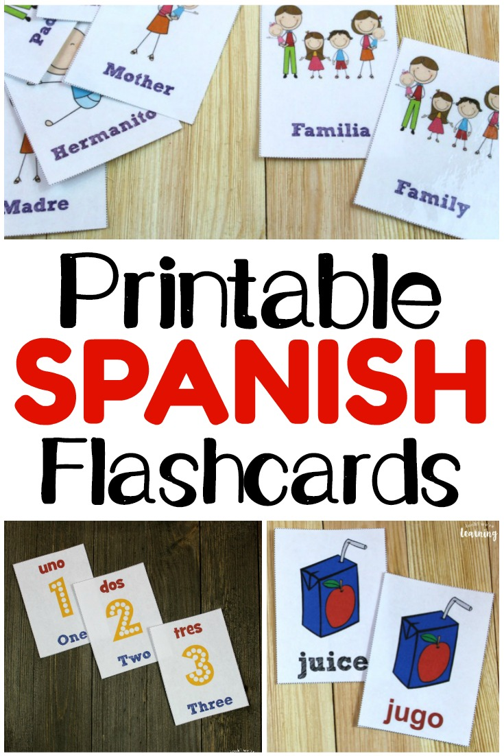 Plenty of printable Spanish flashcards to help kids improve their Spanish vocabulary skills!