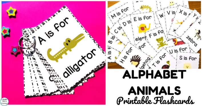 Printable Alphabet Animal Flashcards for Early Learners
