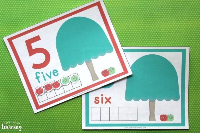 Printable Apple Themed 1-10 Counting Mats